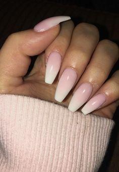 New Hair Ombre Pink Wedding Nails Ideas – unhas Pink White Nails, Pink Nails, Pink Wedding Nails, Airbrush Nails, Ballerina Nails, Trendy Nails, Toe Nails, Nails Inspiration, Hair And Nails