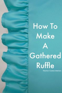 Sewing Pillows How To Make A Gathered Ruffle. Learn how to make a gathered ruffle for your next sewing project with this detailed video tutorial. - Learn how to make a gathered ruffle with this step-by-step tutorial including video. Sewing Hacks, Sewing Tutorials, Sewing Crafts, Sewing Tips, Tutorial Sewing, Sewing Ideas, Zipper Tutorial, Video Tutorials, Techniques Couture
