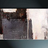 """Bild Leinwand abstrakt zeitgenössische Galeriekunst von Petra Klos: """"shadow dust"""""""