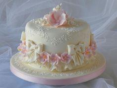 Dort marcipánový * svatební - krásně jemně zdobený ♥♥♥