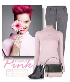 """""""Tickled Pink"""" by molly2222 ❤ liked on Polyvore featuring Pink Tartan, Ralph Lauren Purple Label, Alberto Guardiani, Kate Spade, Anne Sisteron, Allurez, Pink and turtleneck"""