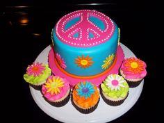 Peace sign Cake — Children's Birthday Cakes