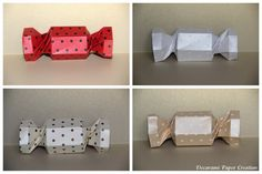 Polka Dots Candy Box - Origami - Paper Decoration by decoramipaper on Etsy