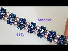 Tutorial: bracelet. DIY. Красивый браслетик. Простой узор - YouTube