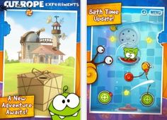 Cut the rope Experiments (iPhone and iPad versions) is FREE for a short period, don't miss this  !