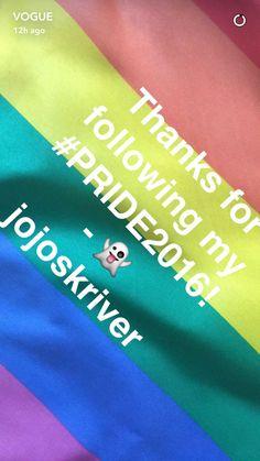 At #pride2016 via Vogue on snapchat in nyc | #SpreadLove