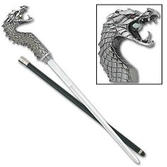 Fighting Dragon Sword Cane 35""