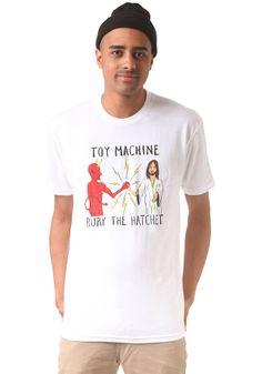 #planetsports TOY MACHINE - Bury the Hatchet II S/S T-Shirt white
