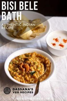 This bisi bele bath recipe is a fully authentic Indian recipe you will love. Tender and made in one pot. Vegetarian Curry, Vegetarian Lunch, Vegetarian Recipes, Healthy Recipes, Veg Recipes Of India, Vegetable Recipes, Indian Food Recipes, Ethnic Recipes, Bath Recipes