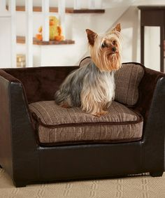 Another great find on #zulily! Black & Brown Plaid Chair Bed by Enchanted Home Pet #zulilyfinds