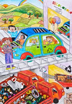 'Recolosolo' by Atman Bheda, Aged 10, India: 3rd Contest, Bronze #KidsArt #ToyotaDreamCar
