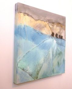 Original Abstract Landscape Painting 60cm x by JuliaPoultonArt
