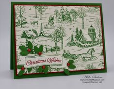 Stampin' Up! Toile Christmas Card – Stampin' in the Meadows Cas Christmas Cards, Stampin Up Christmas, Christmas Wishes, Christmas 2019, Christmas Nail Designs, Christmas Projects, Stampin Up Weihnachten, Stampin Up Cards, Cardmaking