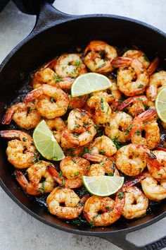 Chipotle Lime Shrimp - Skillet shrimp with smoky chipotle chili pepper, lime juice, honey and garlic. Takes 15 minutes to make and so delicious | rasamalaysia.com