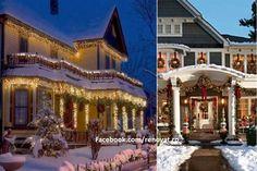Cele mai frumoase case impodobite de Craciun Case, Fair Grounds, Mansions, House Styles, Travel, Home Decor, Viajes, Decoration Home, Manor Houses