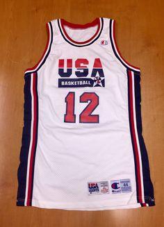 2d5d6c4c5 Vintage 1994 Dominique Wilkins Dream Team USA Authentic Champion Jersey Size  44 pro cut michael jordan penny hardaway charles barkley nba