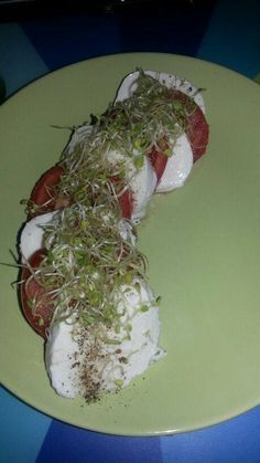 Caprese salad with super shoots Caprese Salad, Competition, Salads, Summer, Food, Summer Time, Essen, Meals, Yemek