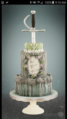 Princess Bride Themed Wedding Cake