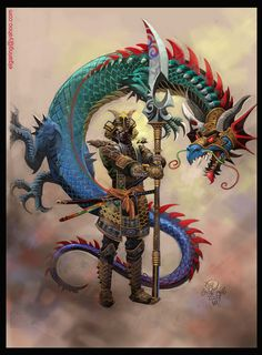 El Samurai Dragon-color by elshazam.deviantart.com on @deviantART