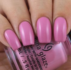 China Glaze Pretty Fit swatched by Olivia Jade Nails Pink Polish, Nail Polish, Jade Nails, Olivia Jade, China Glaze, Swatch, Drink, Chic, Pretty