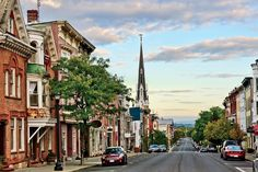 The main street in Hudson, New York.  Best Boutiques, Restaurants, Hotels, and Historic Sights - great for a lazy day of strolling!