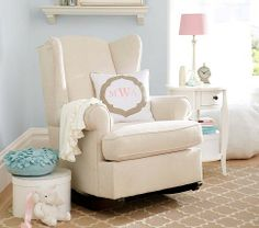 Wingback Convertible Rocker | Pottery Barn Kids - what about this for the toy room (winnie the pooh room)?