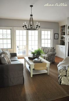 I have shared a few other rooms from my parent's new house in the past and today thought I would share their living room (there are li...