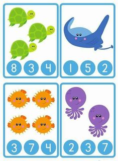 "Today our free printable is a super cute set of Ocean themed number peg it cards! This set comes from our new ""Ocean Learning Pack"", just added to our store, y Counting Activities, Preschool Learning Activities, Free Preschool, Preschool Printables, Activities For Kids, Counting Worksheet, Numbers Kindergarten, Numbers Preschool, Kids Math Worksheets"