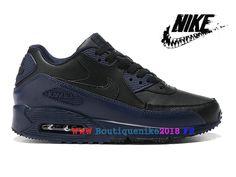 huge selection of 213af 6c8ee Nouveau Nike Air Max 90 Chaussure de Nike Sports Pas Cher Pour Homme Noir    bleu