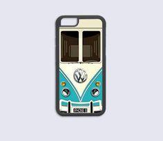 iPhone 6 Case, iPhone 6 Plus Case, iPhone 5C Case, iPhone 5 5s Case, iPhone 4 4s Case - Vw Teal Mini Bus Design, Cool Best Cute Top Cover