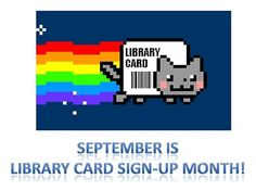 nyan-cat library card sign up month