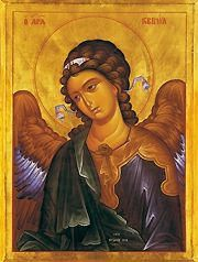 Archangel Gabriel Orthodox Byzantine Icon by Archangel Gabriel, via Flickr