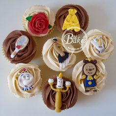 Disney Beauty and the Beast themed cupcakes by BuBakes.co.uk