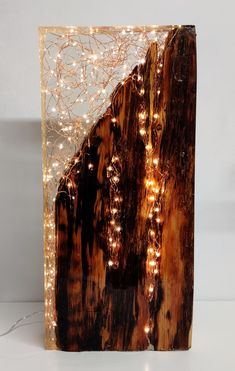Designer/maker of unique light sculptures by RachelCalderDesign Diy Resin Lamp, Diy Resin Crafts, Diy Home Crafts, Diy Craft Projects, Resin And Wood Diy, Wood Resin Table, Woodworking Ideas Table, Beginner Pottery, Handmade Lamps