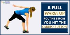 Don't forget to devote 5 - 10 minutes of warm-up routine before you hit the #Cardio button! #IndianWorkouts Visit Here: https://www.indianworkouts.com/full-warm-up-exercises-for-cardio/
