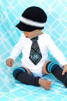 bc170f2df Items similar to Baby Boy Personalized Tie Bodysuit. Cake Smash 1st  Birthday Gift. Any Embroidery on Tie. Christmas Holiday