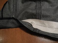 Interfaced Hem - Adding interfacing to a hem creates a smoother line, adds body, and prevents buckling and wrinkling.