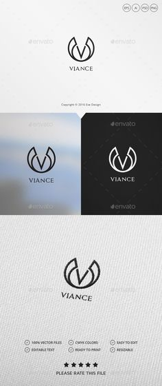 Letter V Logo by Exe-Design •Logo Template 100% •Re-sizable vector 100% •Editable text Easily customizable colors AI