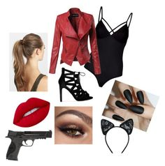 """""""Untitled #1"""" by st3phi ❤ liked on Polyvore featuring Lipsy, France Luxe, Lime Crime, Smith & Wesson and Maison Close"""