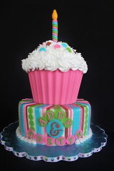 Giant Cupcake Cake — Children's Birthday Cakes