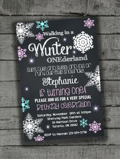 Babies First Birthday Invitations Party by PartyPrintableInvite Holiday Invitations, First Birthday Invitations, Baby First Birthday, First Birthday Parties, Party Invitations, First Birthdays, Winter Onederland, Party Printables, Rsvp