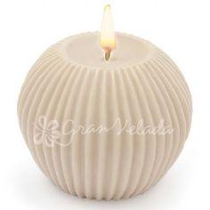 molde para velas decorativas diy esfera con rayas verticales vierte parafinau