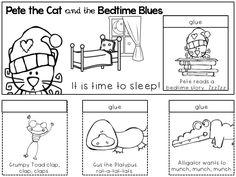 Little Lady Violet Pete The Cat And Bedtime Blues Flipbook Printable Bundle Of 6