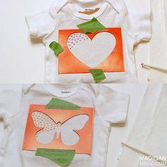 Madigan Made { simple DIY ideas }: Simple Stenciled Baby Onesie Idea