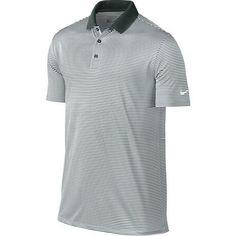 Nike Golf Victory Mini Stripe Polo - Pro Green/White