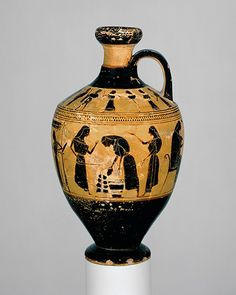 Attributed to the Amasis Painter: Lekythos (31.11.10) | Heilbrunn Timeline of Art History | The Metropolitan Museum of Art