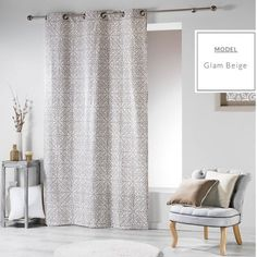 Záves s ornamentálnym vzorom online Room Darkening Curtains, Sheer Curtains, Blackout Curtains, Panel Curtains, Rideaux Design, Style Rustique, Pencil Pleat, Thermal Curtains