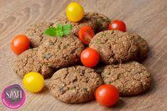 """Humusz fasírt    Húsmentes, tojásmentes, tejmentes, csökkentet szénhidrát tartalmú""""fasírt"""" 3 összetevőből:  100-150 g diéta szerinti prézli (vagy annyi, amennyit felvesz) - pl. Szárított és ledarált Szafi Free kenyér (RECEPT ITT!!!) 500 g Humusz (RECEPT ITT!!!) 2 tk. Szafi Fitt gluténmen"""