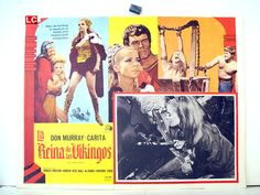 """LA REINA DE LOS VIKINGOS"" MOVIE POSTER - ""THE VIKING QUEEN"" MOVIE POSTER"
