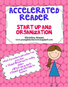 Accelerated Reader start up and organization freebie! This will help students and teachers stay organized! Library Lessons, Reading Lessons, Reading Resources, Reading Strategies, Teaching Reading, Teaching Tips, Reading Comprehension, Ar Reading, Guided Reading